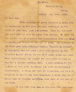 Lettre d'un ami – Texte de la lettre (écrit en anglais) :