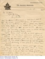 Lettre de condoléances – Texte anglais d'une lettre de condoléances á la famille Batson :