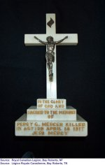 "Monument – ""Croix commémorant Percy G. Mercer"""
