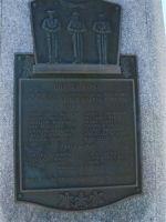 Memorial Plaque– War Memorial-Cheticamp, Nova Scotia, Canada.