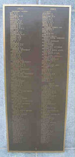 Memorial Plaque– Panel 9 of Halifax Memorial. Photo provided by Phil Miller.