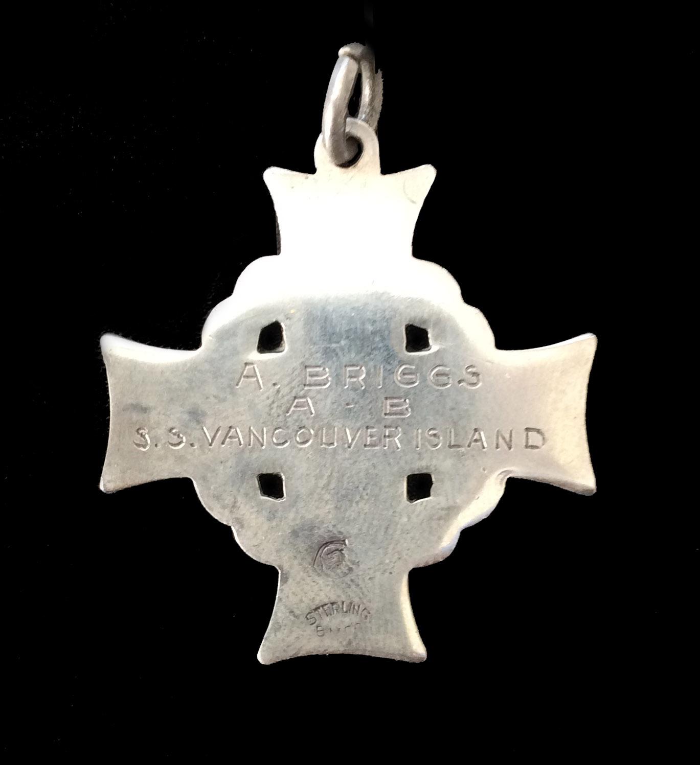 Memorial Cross– The memorial cross awarded to Mrs. Hilda Briggs