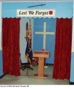 """Salle Commémorative – """"Salle commémorative à la New Perlican Legion honorant les soldats  locaux tombés au combat."""""""