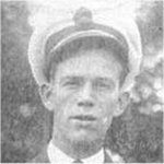 Photo of Alfred Ernest Joseph Clayton– Alfred Ernest Joseph Clayton, RCNVR, Supply Assistant, lost November 24, 1944 on the Flower Class Corvette HMCS Shawinigan when it was torpedoed by U-1228. Other ships Alfred served were HMCS Malpeque (Bangor Class Minesweeper) and HMCS Chilliwack (Flower Class Corvette), as well as serving at HMCS Stadacona (Halifax Naval Base) and HMCS Avalon (St. John's Naval Base). This photograph would have been taken while he was home on leave (date taken unsure).
