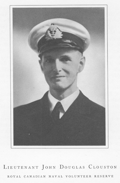 """Photo of John Douglas Clouston– From the book """"Field of Honour"""" published in 1950."""
