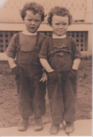 Photo of JOHN ROBERT HALL– Jack (John) and Allen. Submitted for the project, Operation Picture Me