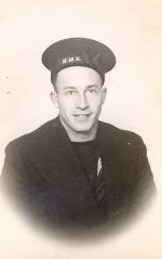 Photo of Cecil Hardiman– Picture was taken in 1942, a year before he was lost at sea during WWII.