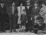 Group Photo– (left to right) W.J Kent, Dale, George Kent Jr., Ella Kent (Dale's mother), George D Kent, Mrs. W J Kent. Forefront: Harold Kent (Dale's younger brother). Insert: Henry Cassidy .. another Bathurst man who perished on Lady Hawkins.