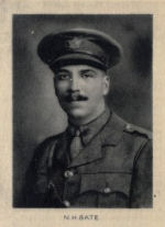 Photo of Newell Bate– From Memorial from the Great War 1914-1918: a record of service published by the Bank of Montreal 1921.