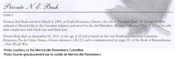 Page commémorative