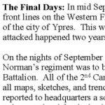 Biographie - page 2 – Biographie fournie gracieusement par le Smith Falls District Collegiate  suite à l¿initiative commémorative « Lest We Forget ».