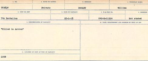 Circumstances of death registers– Source: Library and Archives Canada. CIRCUMSTANCES OF DEATH REGISTERS, FIRST WORLD WAR. Surnames: Don to Drzewiecki. Microform Sequence 29; Volume Number 31829_B016738. Reference RG150, 1992-93/314, 173. Page 225 of 1076.