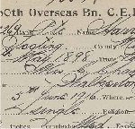 Enlistment Cards– Records are property of the Bruce County Museum and Cultural Centre.