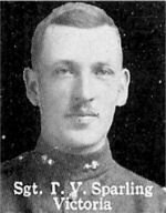 Photo of Thomas Sparling– From: The Varsity Magazine Supplement published by The Students Administrative Council, University of Toronto 1916.   Submitted for the Soldiers' Tower Committee, University of Toronto, by Operation Picture Me.