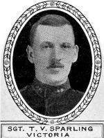 Photo of Thomas Sparling– From: The Varsity Magazine Supplement Fourth Edition 1918 published by The Students Administrative Council, University of Toronto.   Submitted for the Soldiers' Tower Committee, University of Toronto, by Operation Picture Me.