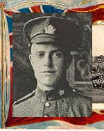 """Photo of William Sproal– Caption (pg. 382):  Men of Peel Killed During the Great War.  Author - William Perkins Bull. """"From Brock to Currie: the military development and exploits of Canadians in general and of the men of Peel in particular, 1791 to 1930.""""  Toronto, 1935."""