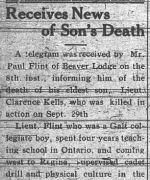 Coupre de presse – GRAND PRAIRIE HERALD 29 octobre 1918