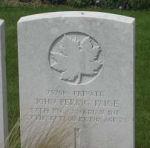 Grave Marker– Burial Cemetery in Inchy En Artois,France