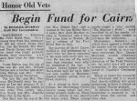 Newspaper clipping– Newspaper Clipping about Cairn to be built in memory of MacLennan Soldiers who lost their lives in the Great War