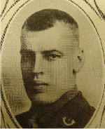 """Photo of Andrew Baird– University of Manitoba Roll of Honour 1914-1918.  Winnipeg, 1923. Roll of the  Fallen (pg. 17) - """"BAIRD, Andrew Stuart:  B.A. 1912; Enlisted 1-11-15; Lieut. 90th Battn.; Transferred to 14th Battn.; Service in France; Killed in Action 8-10-18.""""  Note:  the date of death in this short biographical note included an error with Lt. Baird's date of death.  The 14th Battalion War Diary entry dated August 8th, 1918:  """"Early in the day, five very gallant Officers were killed."""" Lt. Baird was one of the five listed as killed that day."""