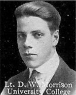 Photo of Donald Morrison– From: The Varsity Magazine Supplement published by The Students Administrative Council, University of Toronto 1916.   Submitted for the Soldiers' Tower Committee, University of Toronto, by Operation Picture Me.