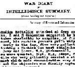 Diary– Battle of Amiens - 14th Battalion War Diary entry noting the death of Lt. Edward G. T. Penny.