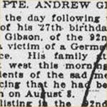 Press Clipping– source: Hamilton Spectator; August 20, 1918, page 13