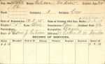 Record of Service Card (Front)– Record of Service Card(front side).  Courtesy of 48th Highlanders of Canada Regimental Museum.  Submitted by 15th Bn memorial Project Team.  DILEAS GU BRATH