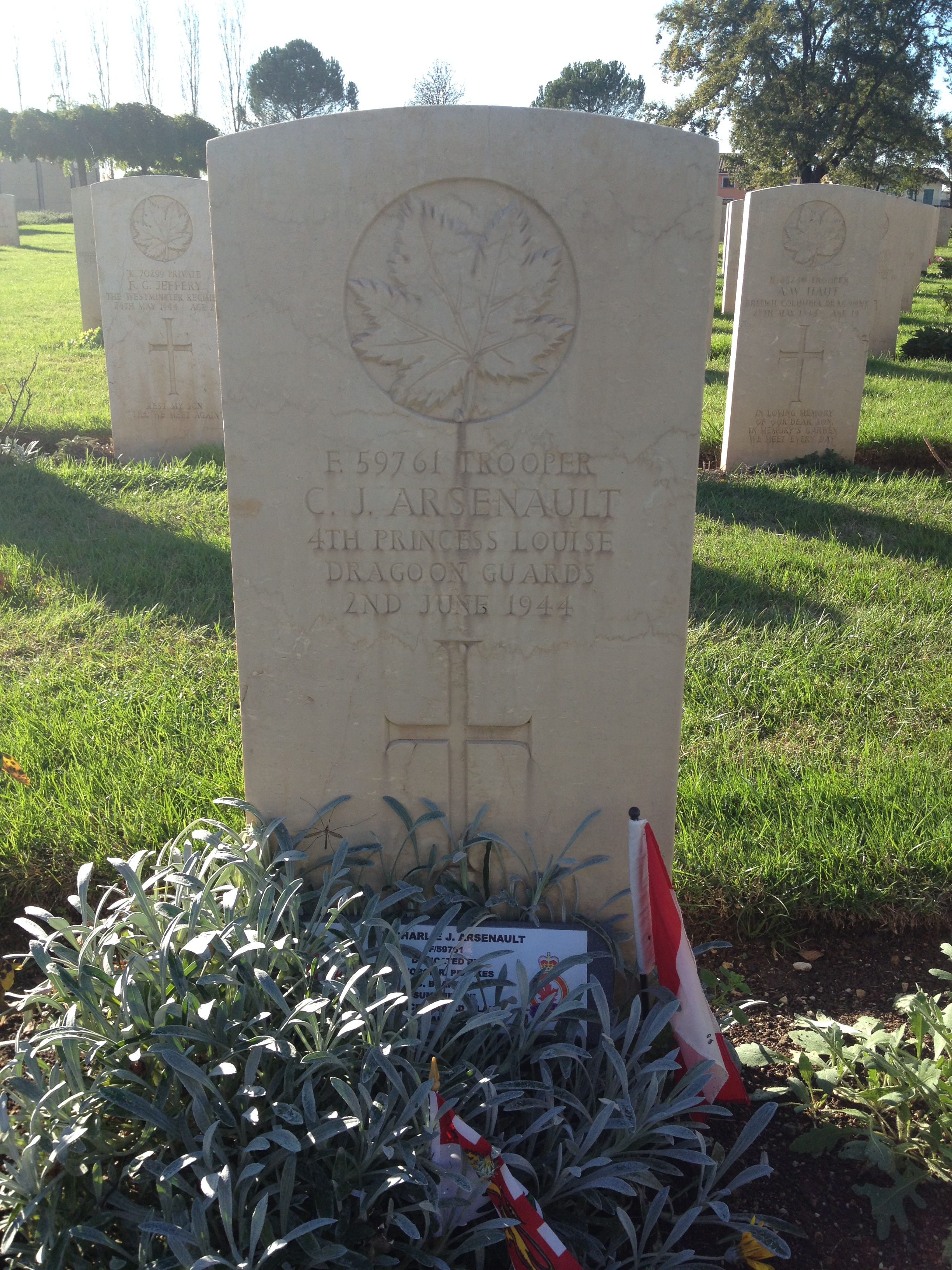 Grave marker– Photo courtesy of Geoff Wood