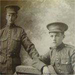 Photo of Sidney Taylor– The man in the left of the photo is my uncle, Sidney Taylor. The man on the right is his friend Harry Stevens also of the St Marys area.