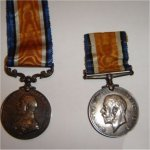"""Medals– Military Medal. On the obverse is the inscription """"For Bravery In The Field"""" The medal on the right has the years 1914 1918 on the obverse."""