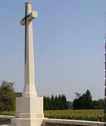 Cross of Sacrifice– Cross at front of Cerisy Military Cemetery
