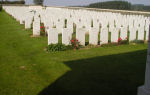 Cerisy Military Cemetery– There are two military cemeteries in the village of Cerisy. This one, where Sidney Taylor is buried is designated by the Roman Numeral II