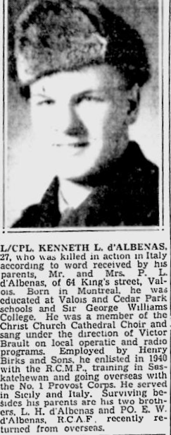 Newspaper clipping– From the Montreal Gazette. Submitted for the project, Operation: Picture Me