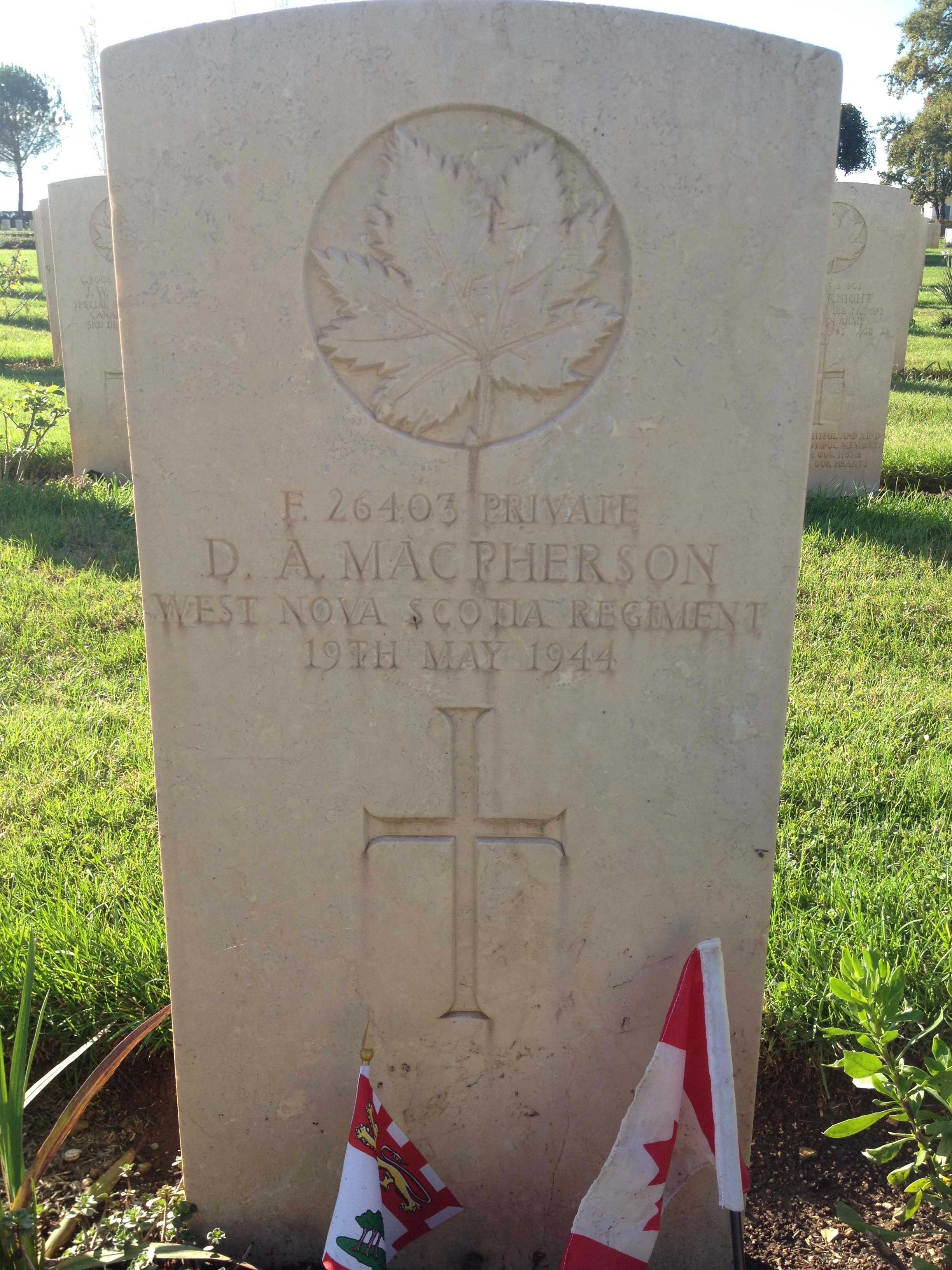 Grave marker– Photo courtesy of Geoff Wood.