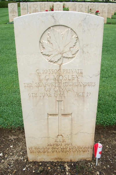 Grave Marker– Grave marker - Cassino War Cemetery - May 2013 … Photo courtesy of Marg Liessens