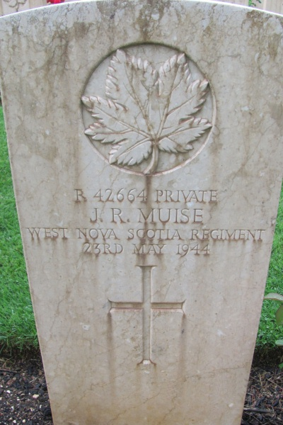 Grave Marker– Grave marker - Cassino War Cemetery - May 2013