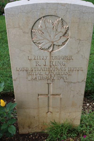 Grave Marker– Grave marker - Cassino War Cemetery - 2013