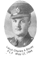 Photo of CHARLES ALLISTER RITCEY– In memory of the students of the Lunenburg Academy who went off to war and did not come home. Submitted for the project, Operation Picture Me