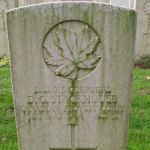 Grave Marker– The tombstone of Donald Gilbert Stackhouse.