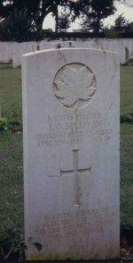 Grave marker for J.O. Sullivan