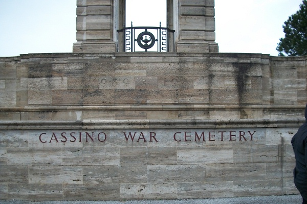 Entrance– Entrance - Cassino War Cemetery - May 2013 … Photo courtesy of Marg Liessens