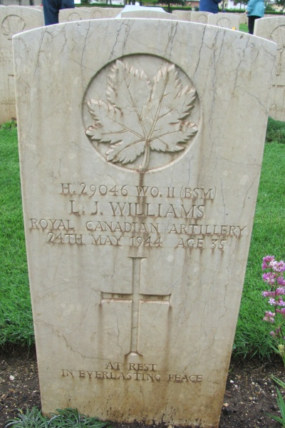 Cemetery– Grave marker - Cassino War Cemetery - May 2013