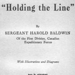 """Dedication– Harold Baldwin's book """"Holding the Line"""" (1918) includes a dedication to James Maxwell Currie."""