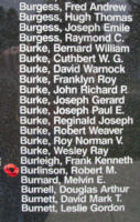Memorial– Pilot Officer Robert Melville Burlinson is also commemorated on the Bomber Command Memorial Wall in Nanton, AB … photo courtesy of Marg Liessens