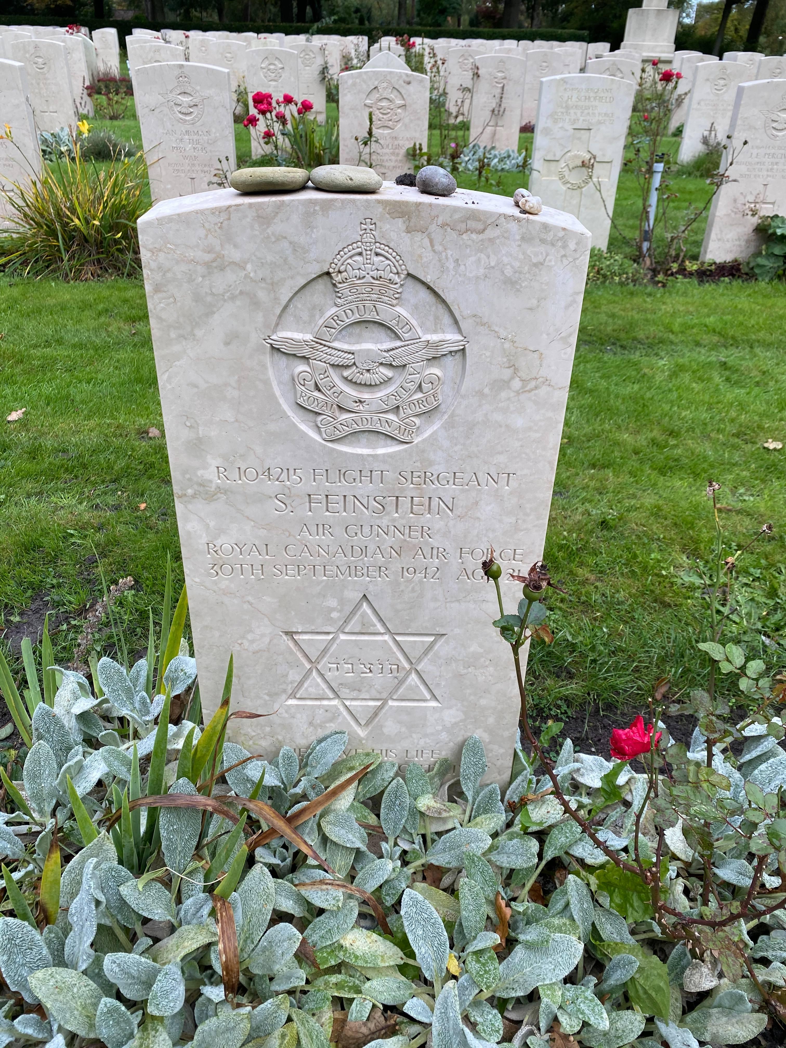 Grave marker– Grave marker from Sam Feinstein´s grave at Bergen General Cemetery, The Netherlands.