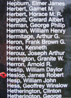 Memorial– Pilot Officer James Robert Heslop is also commemorated on the Bomber Command Memorial Wall in Nanton, AB … photo courtesy of Marg Liessens
