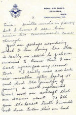 Letter, Page 3– Vincent MacCausland - last letter page 3 of 4