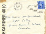 Envelope– Letter Head. MacCausland's last letter to mother, 1943.