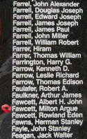 Memorial– Flight Sergeant Milton Argue Fawcett is also commemorated on the Bomber Command Memorial Wall in Nanton, AB … photo courtesy of Marg Liessens